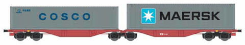 ACME 40364  CD Cargo Container Wagon Type Sggrss 80' - The Scuderia 46