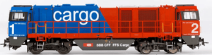 B-Models 3027.03  Diesel Locomotive G2000, SBB Cargo   (DCC w/Sound) - The Scuderia 46