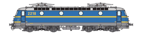 B-Models VB3303.07  SNCB Electric Locomotive Serie 22 (DCC w/Sound) - The Scuderia 46