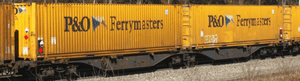 "B-Models 55100  Container Cars Sggmrss 90 ""P&O FERRYMASTERS"" - The Scuderia 46"