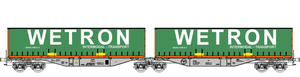 "B-Models 55105  Container Cars Sggmrss 90 ""WETRON"" - The Scuderia 46"