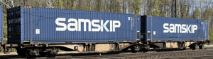 "B-Models 59200  ""SAMSKIP"" Container Cars Sggmrss 90 - The Scuderia 46"