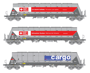 B-Models 92106  SBB Cargo 3 Silo Wagon Set - The Scuderia 46