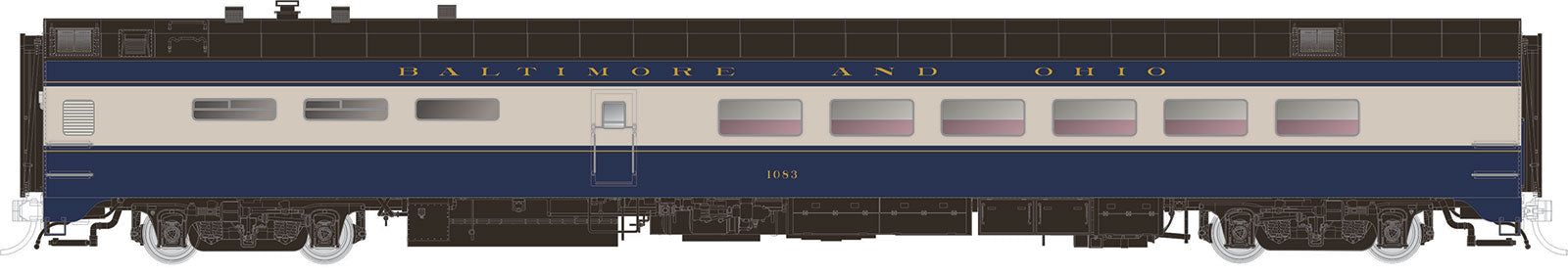 Rapido Trains  Baltimore & Ohio Pullman-Standard Lightweight Dining Car