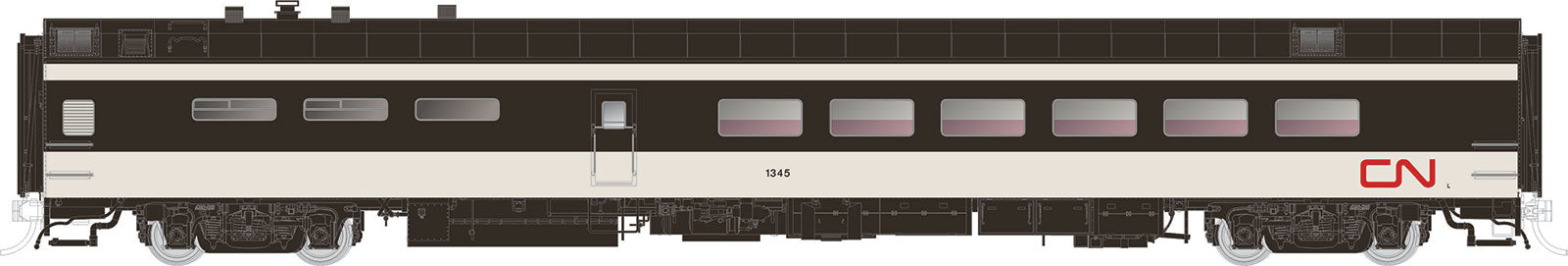 Rapido Trains  CN (1961 scheme)  Pullman-Standard Lightweight Dining Car