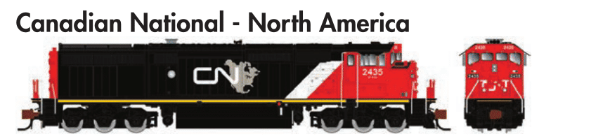 Rapido Trains  GE Dash 8-40CM Canadian National - North America - The Scuderia 46