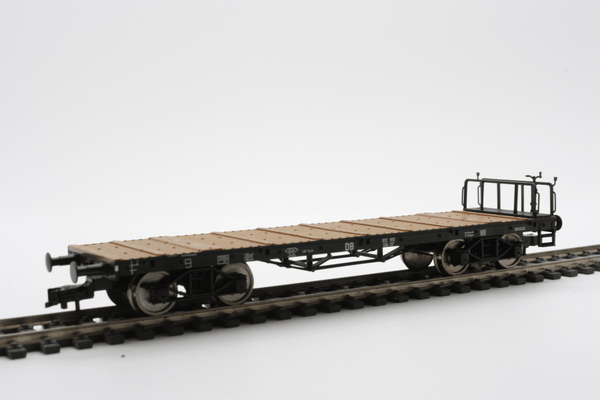 Fleischmann 5286 Four-axled stake wagon of the DB with brake platform - The Scuderia 46