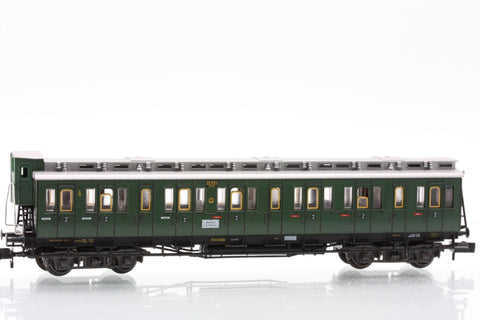 Fleischmann 8085  2nd class compartment car type B4 Pr04 of the DRG - The Scuderia 46