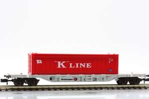 "Fleischmann 8247  Container carrier wagon type Sgss-y, ""KOMBIWAGGON"" - The Scuderia 46"