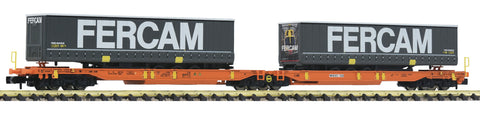 Fleischmann 825010  Articulated double pocket wagon T2000, Wascosa - The Scuderia 46