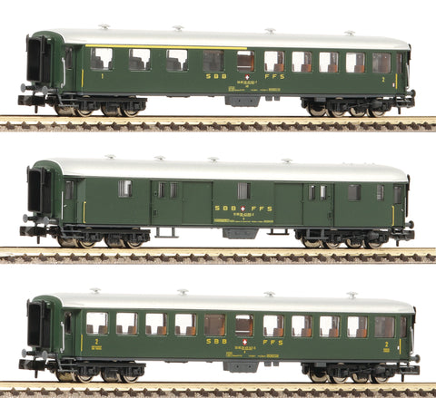 Fleischmann 881813  3 piece set express train coaches, SBB - The Scuderia 46