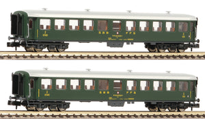 Fleischmann 881814  2 piece set express train coaches, SBB - The Scuderia 46