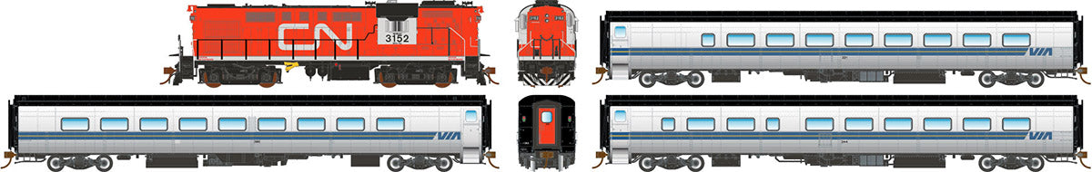 Rapido Trains  VIA Rail Tempo – Complete Set - The Scuderia 46