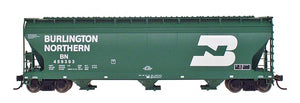 InterMountain Railway 47001  Burlington Northern  ACF 4650 Cu. Ft. 3-Bay Hoppers - The Scuderia 46
