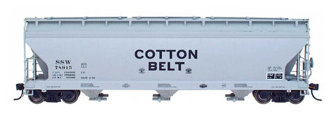 InterMountain Railway 47044  Cotton Belt  ACF 4650 Cu. Ft. 3-Bay Hoppers - The Scuderia 46