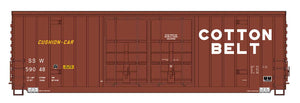 InterMountain Railway 4134003 Cotton Belt Gunderson 50' High Cube Double Door Boxcar - The Scuderia 46