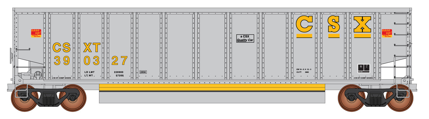 InterMountain Railway 4400006-A02  CSXT Gray 13 Panel Coalporter® (Six Pack) - The Scuderia 46