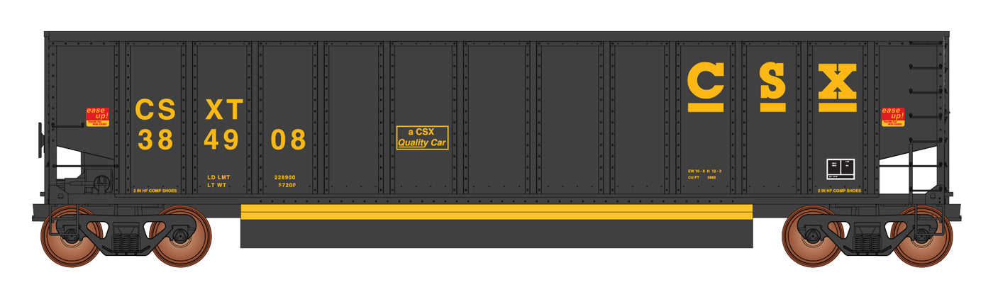 InterMountain Railway 4400007-A02  CSXT Black 13 Panel Coalporter® (Six Pack) - The Scuderia 46