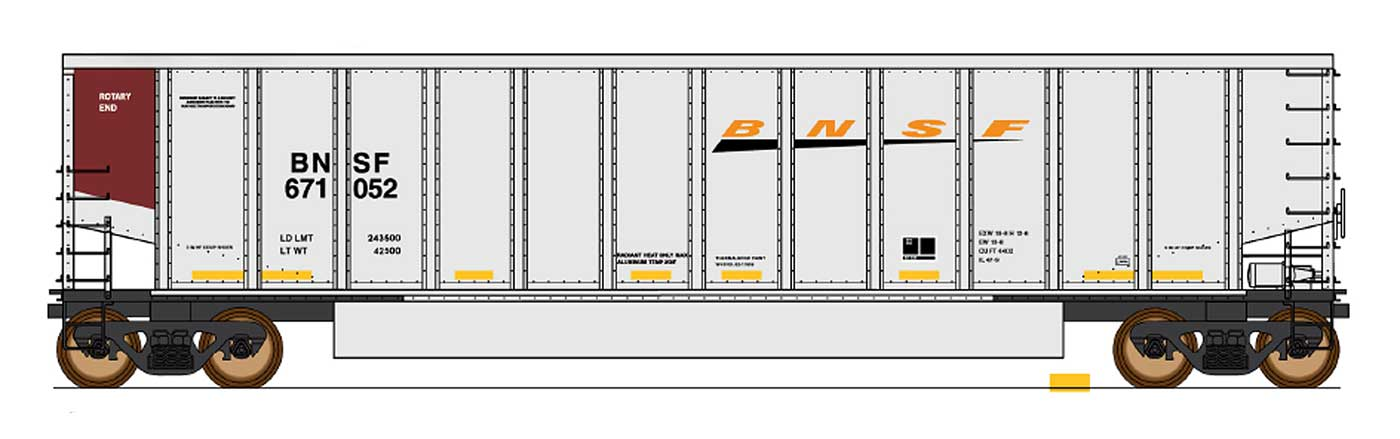 InterMountain Railway 4401011-01  BNSF - New Image 14 Panel Coalporter® - The Scuderia 46