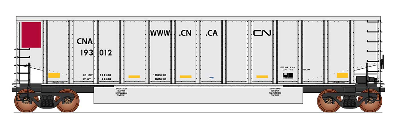InterMountain Railway 4401014-A01  Canadian National - CNA Website 14 Panel Coalporter® (Six Pack) - The Scuderia 46