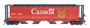 InterMountain Railway 45101 Red Canada - CNWX Cylindrical Covered Hopper - The Scuderia 46