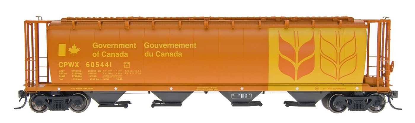 InterMountain Railway 45120  Canadian Wheat Board - Govt. Car - CPWX Cylindrical Covered Hopper - The Scuderia 46