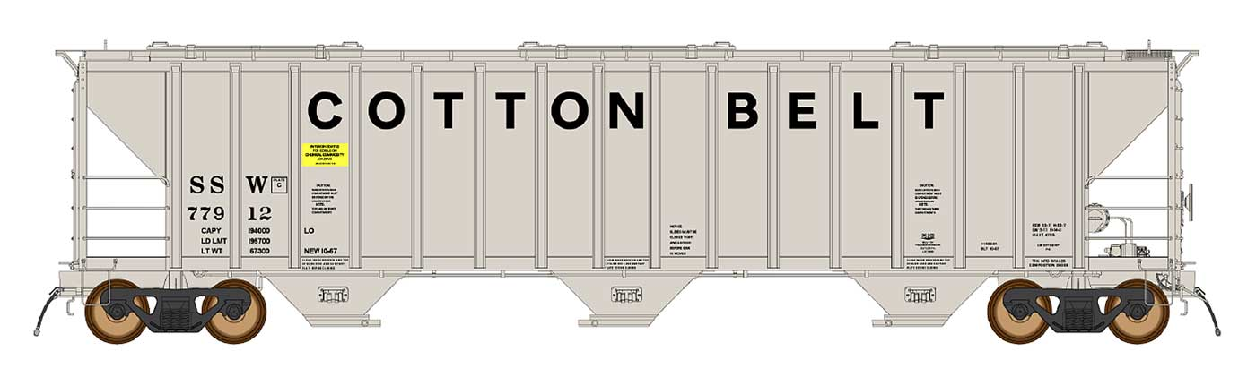 InterMountain Railway 472290  Cotton Belt SSW 4785 PS2-CD Covered Hopper - The Scuderia 46