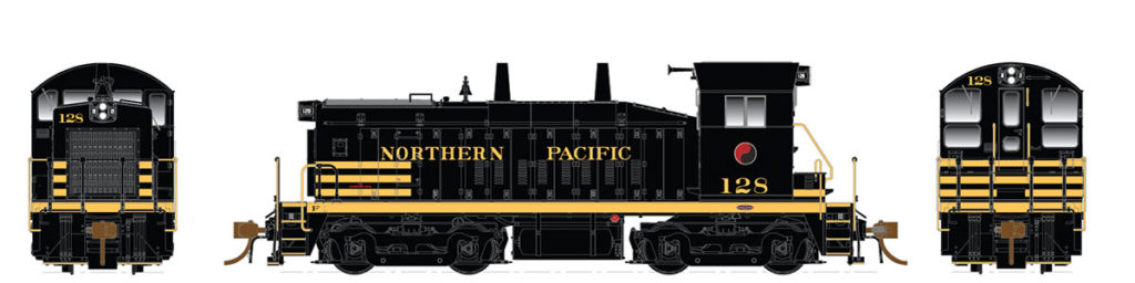 Rapido Trains  Northern Pacific Diesel Locomotive SW1200