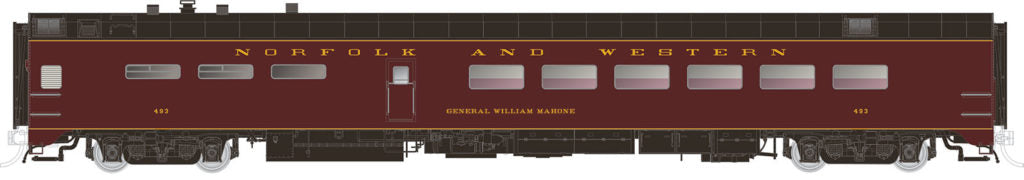 Rapido Trains  Norfolk & Western  Pullman-Standard Lightweight Dining Car
