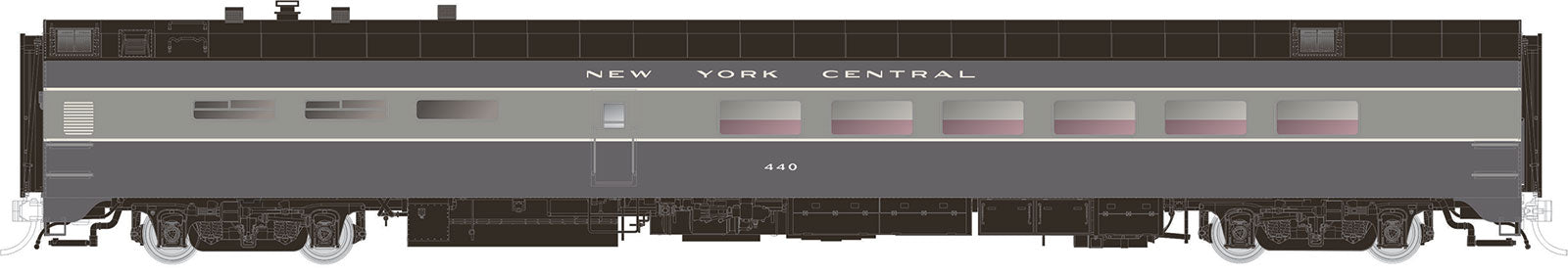 Rapido Trains  NYC (Two-Tone Gray) Pullman-Standard Lightweight Dining Car