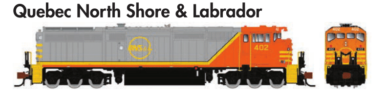 Rapido Trains GE Dash 8-40CM -Quebec North Shore & Labrador - The Scuderia 46