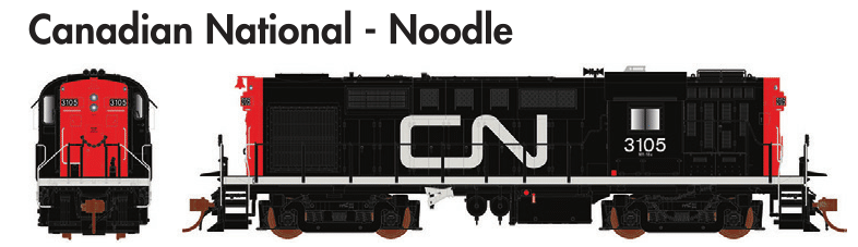 Rapido Trains  MLW RS-18 Canadian National - Noodle - The Scuderia 46