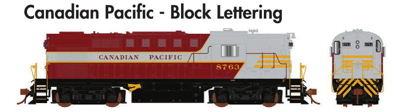 Rapido Trains  MLW RS-18 Canadian Pacific - Block Lettering - The Scuderia 46