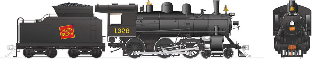 Rapido Trains 603501  Canadian National H-6-d Steam Locomotive