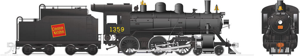 Rapido Trains 603002  Canadian National H-6-g Steam Locomotive
