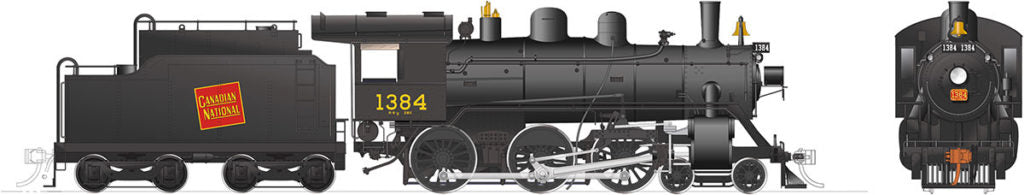 Rapido Trains 603506  Canadian National H-6-g Steam Locomotive