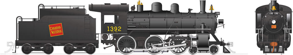 Rapido Trains 603008  Canadian National H-6-g Steam Locomotive