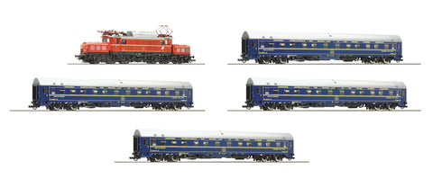 Roco 61468  5 piece set: Electric locomotive class 1020 ÖBB and 4 sleeping cars