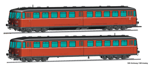 Roco 72081  Accumulator railcar class 515 with cab car, DB (DCC w/Sound)