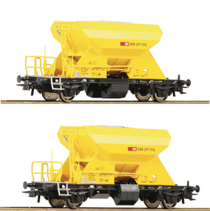 Roco 76154  2 piece set: Hopper wagons, SBB