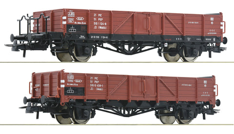 Roco 76281  2 piece set: Open goods wagons, PKP