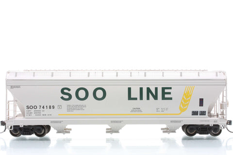 InterMountain Railway 47056  SOO LINE  ACF 4650 Cu. Ft. 3-Bay Hopper