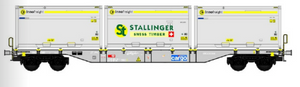 B-Models 90805.1  SBB Cargo Innofreight Wagon 'Stallinger Swiss Timber' - The Scuderia 46