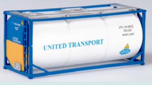 "B-Models LT206  20' Tank Container ""UNITED TRANSPORT"" Decorative Only - The Scuderia 46"