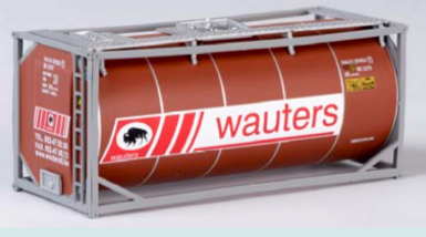 "B-Models LT208  20' Tank Container ""WAUTERS"" Decorative Only - The Scuderia 46"