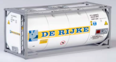 "B-Models LT216  20' Tank Container ""DE RIJKE"" Decorative Only - The Scuderia 46"