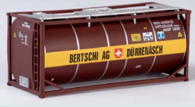"B-Models LT203  20' Tank Container ""BERTSCHI AG"" Decorative Only - The Scuderia 46"