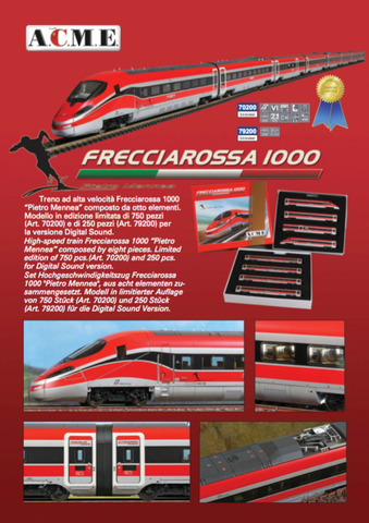 ACME 79200  ETR 400 - Frecciarossa 1000 High Speed train Set (DCC w/Sound) - The Scuderia 46