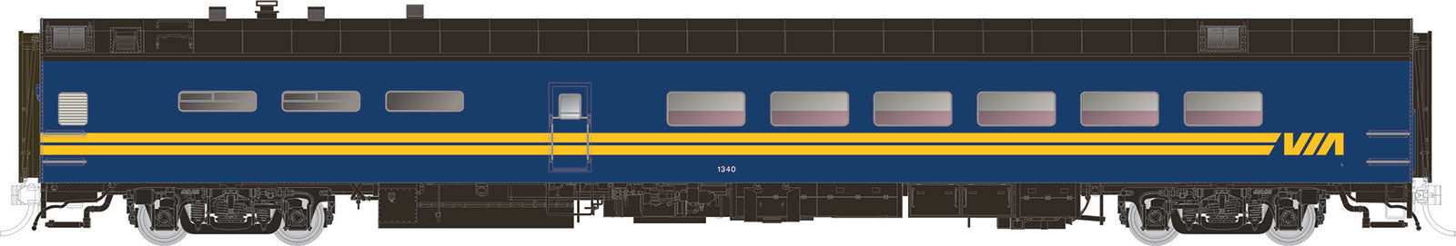 Rapido Trains  VIA Rail Canada Pullman-Standard Lightweight Dining Car