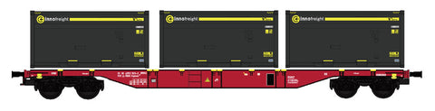 "B-Models 90800.1  Innofreight Container Wagon A-ÖBB Sgns ""KOKS-KOHLE"" - The Scuderia 46"